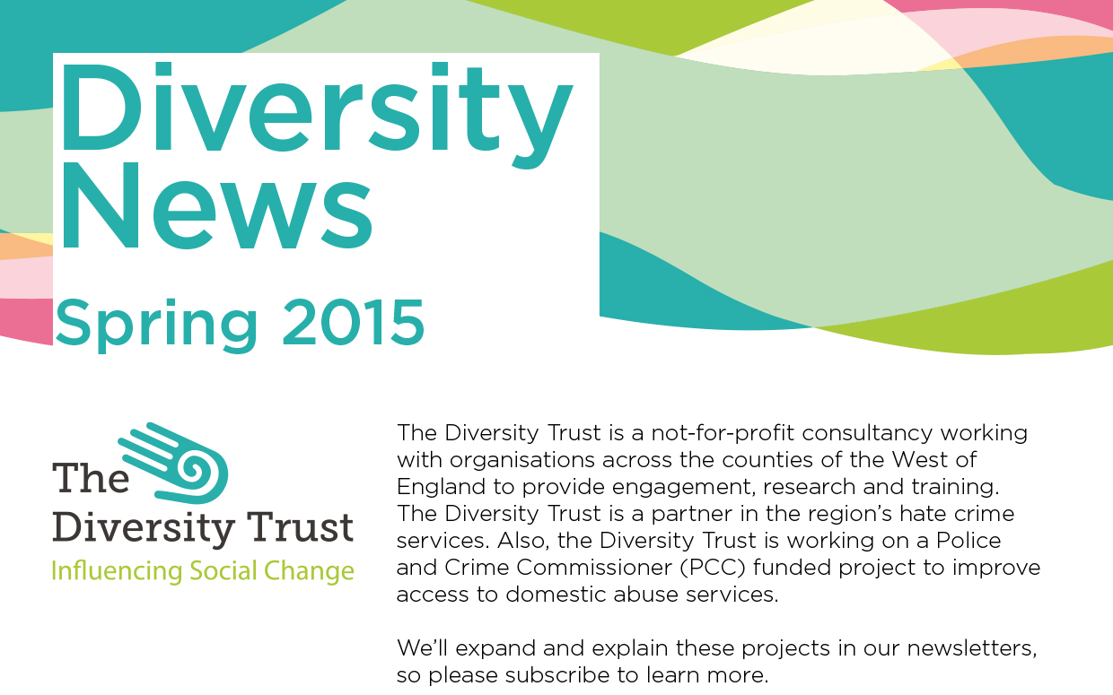 Header designed for the newsletter of the Diversity Trust