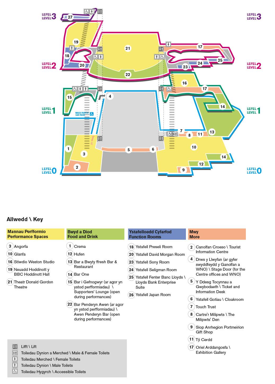 Map illustration for Wales Millennium Centre