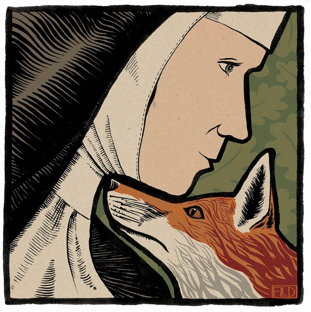 book illustration fox nun Graffeg