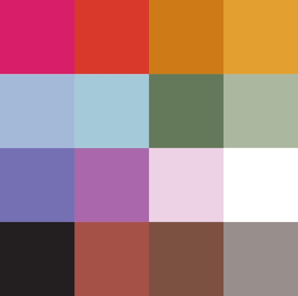 colour palette for fabric wall hangings
