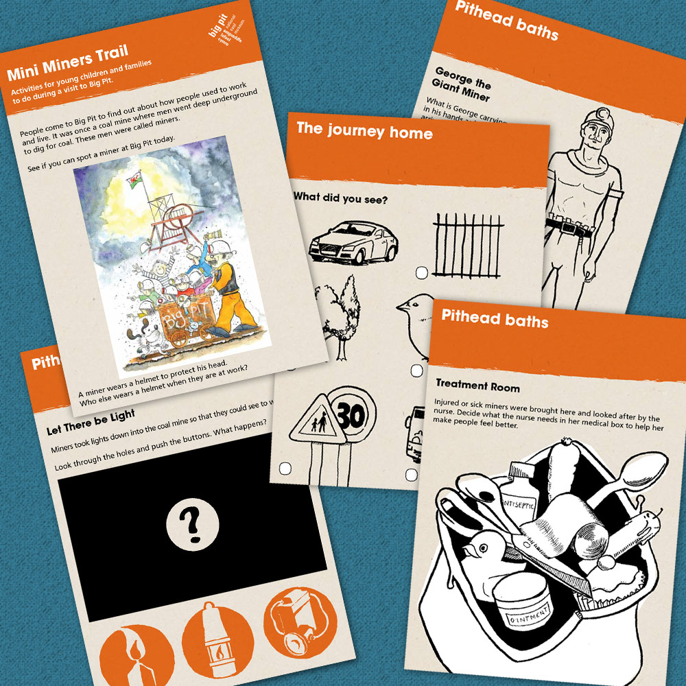 design & illustration of family trail