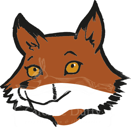 red fox cartoon illustration