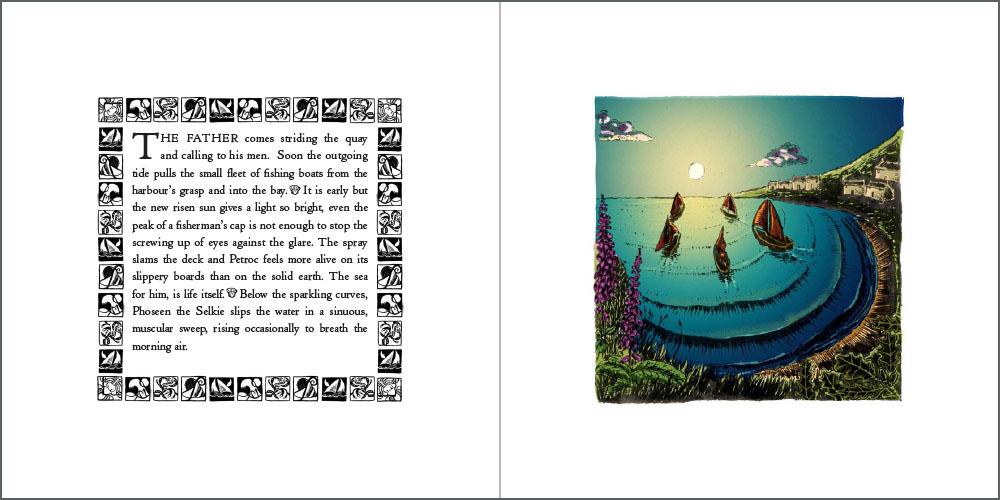 book illustration spread