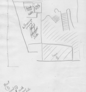 tracing of the architect plans map illustration