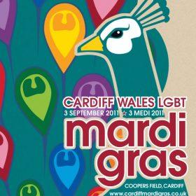 Cardiff LGBTQ+ Mardi Gras brochure