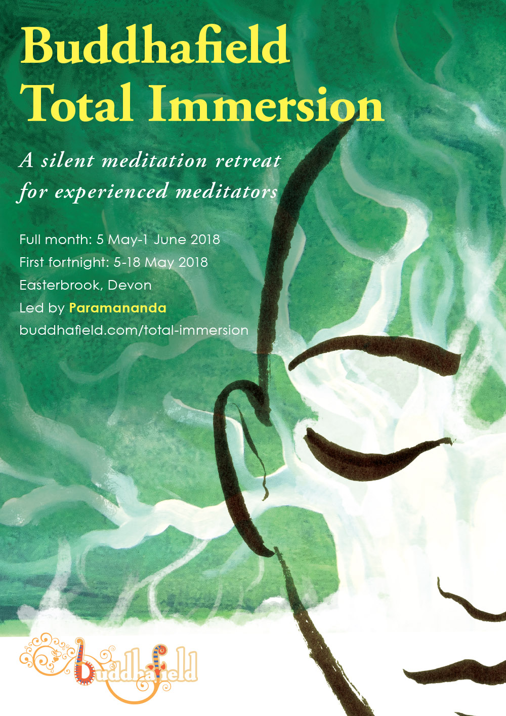 buddhafield total immersion poster illustration design