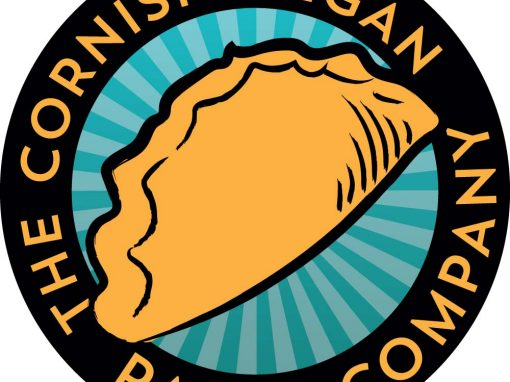 Logo and label design for Cornish Vegan Pasty Company