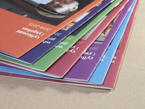 Suite of promotional brochures for National Museums Wales
