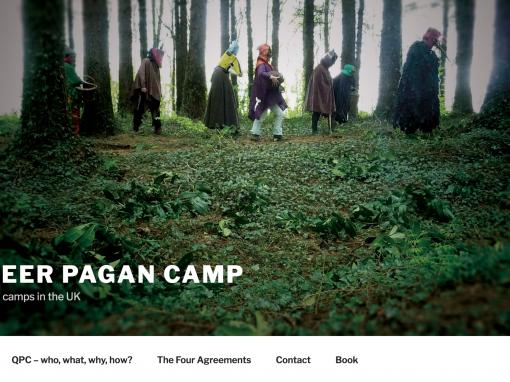 Queer Pagan Camp website design