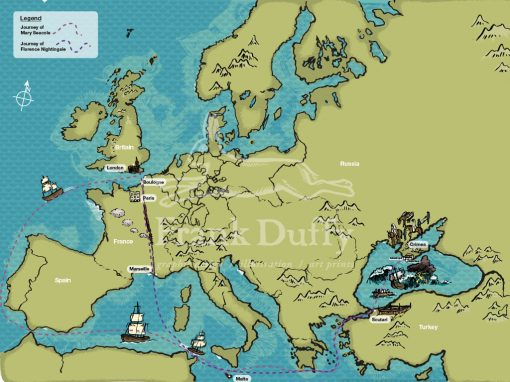 Map illustrations for London museum