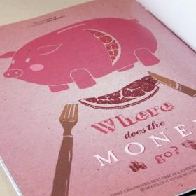 Pork money illustration & typography CIO Connect