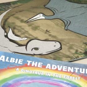 Children's dinosaur book illustration