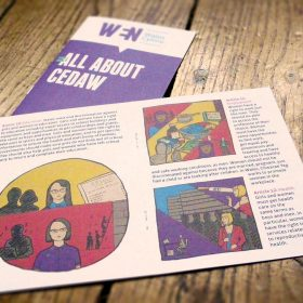 Design and illustration work for Women's Equality Network Wales