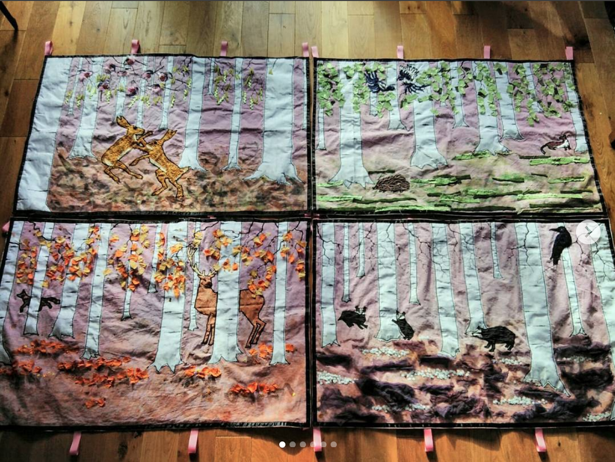 Fabric wall hangings for reflective sound