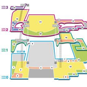 Wales Millennium Centre visitor map