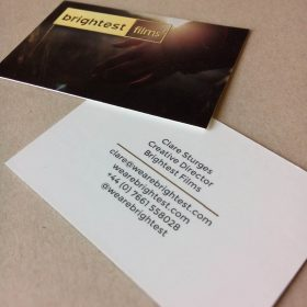 Brightest business cards