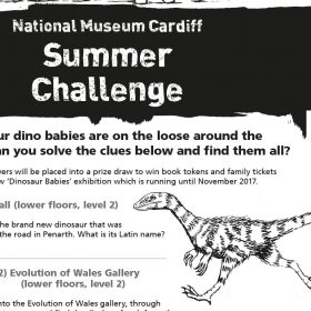 Illustrated family trail for National Museum Cardiff