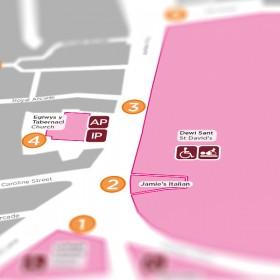 Hijinx Theatre map