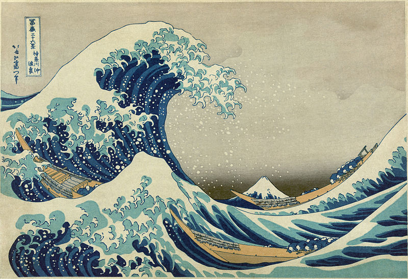 The Great Wave off Kanagawa by Hokusai; image from Wikimedia