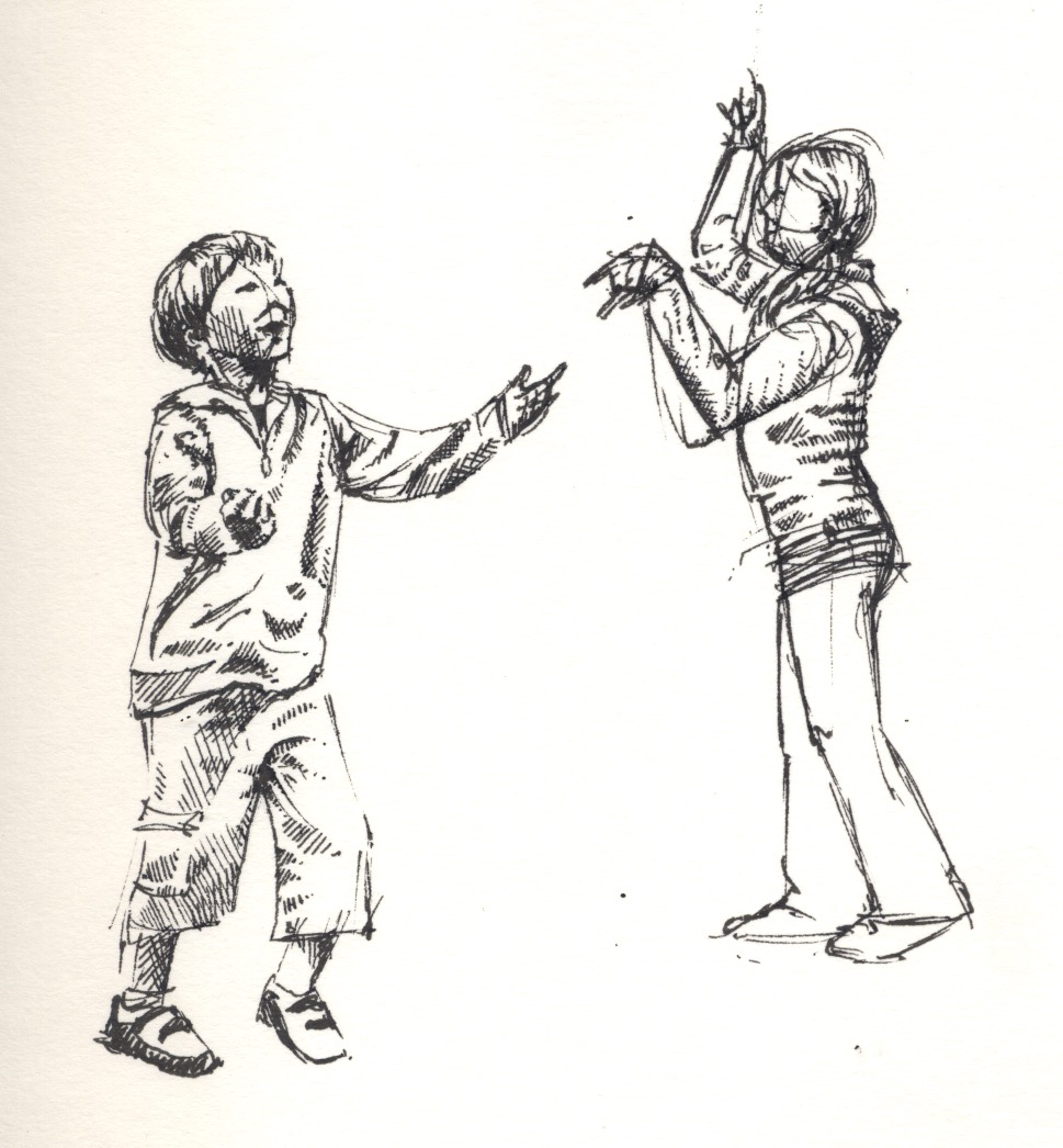 illustration children playing