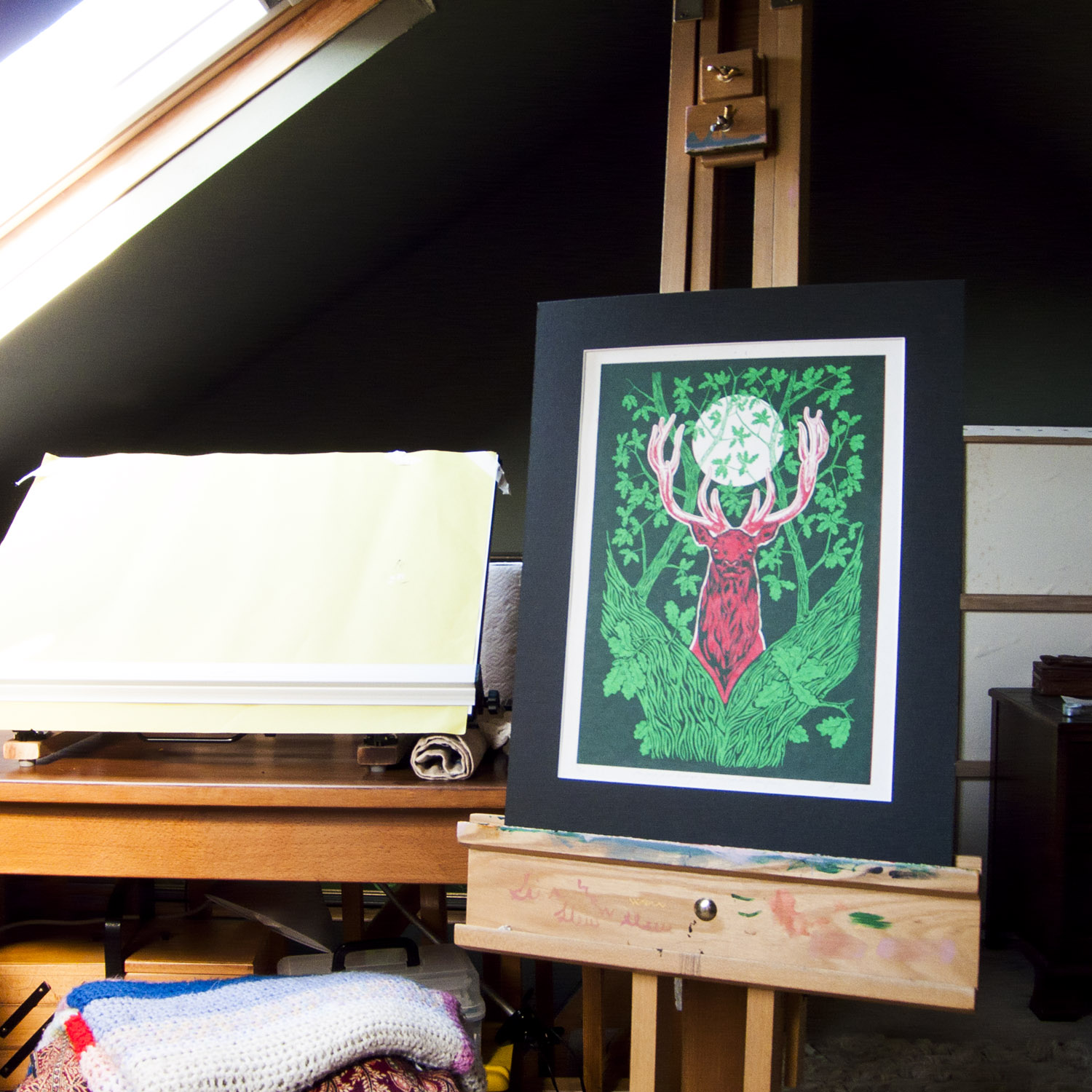 Green Fuse donated screenprint for auction