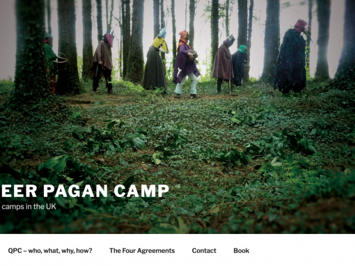 Queer Pagan Camp website design