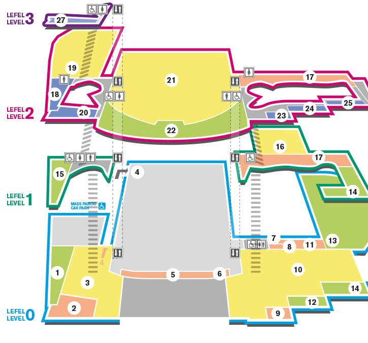 Exploded visitor map for Wales Millennium Centre