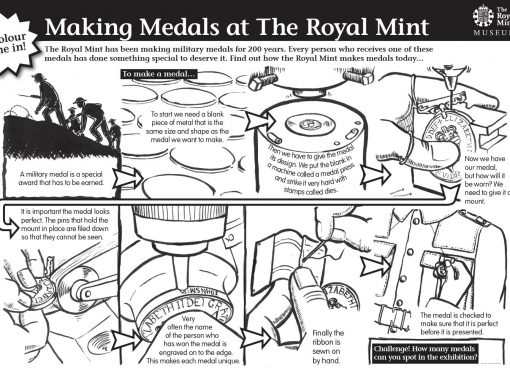 Royal Mint educational worksheet