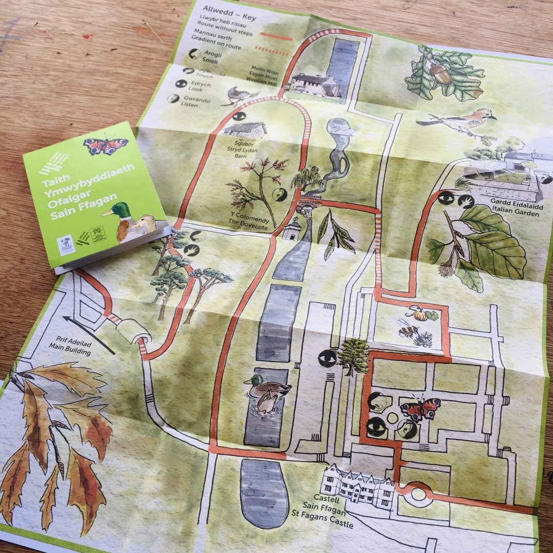 Illustrated map for St Fagans Museum